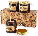 TOFU Set de Velas Aromaticas 3 Piezas*3.5oz, Velas Perfumadas duración 25 Horas Regalo de Velas Perfumadas con Aceite de Fragancia Esencial, Velas portátiles en una Lata para aliviar el estrés