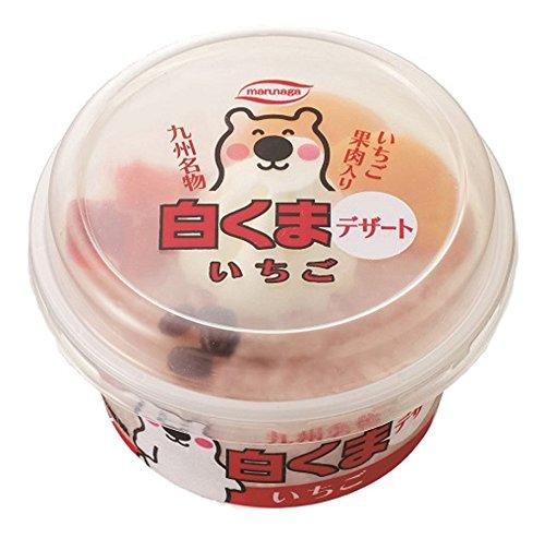 丸永製菓 白くまデザートいちご 190ml×16個入り