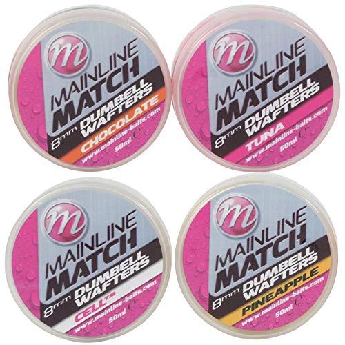 Mainline Match Dumbell Wafters 8mm 50ml Pink Tuna M3107 Matchangeln Wafter Hakenköder Hookbaits