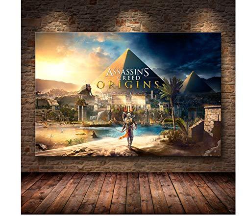 yiyishop Carteles E Impresiones Assassin'S Creed Odyssey Origins Póster Cuadro De Arte De Pared Lienzo Pintura Sin Marco Decoración del Hogar 40X60Cm Hn480