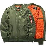 BRQ Par MA Chaqueta De Algodón, Otoño/Invierno Tallas Grandes para Deportes Y Ocio Abrigo-Chaqueta Corta De Bombardero Gruesa Cálida S-6XL (Color : Army Green, Size : 3XL-Large)