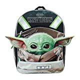 """Star Wars""""The Child"""" Baby Yoda 16"""" Half Moon Backpack with 1 Zipper Front Pocket & Ears"""