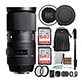 Sigma 150-600mm 5-6.3 Contemporary DG OS HSM Lens for Nikon DSLR Cameras with Sigma USB Dock and 64GB Travel Bundle