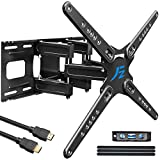 "Fozimoa Full Motion TV Wall Mount Bracket for 28-86' Flat/Curved TV, Swivel, Tilt, Extend 13.8""- Six Strong Articulating Arms, Load max 121 lbs, VESA max 600X400,Fit 8-16""Studs,Low Profile"