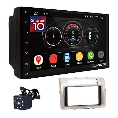 UGAR EX10 7 pollici Android 10.0 DSP Navigazione GPS per Autoradio + 11-560 Kit di Montaggio compatibile per Toyota Corolla Verso 2004-2009