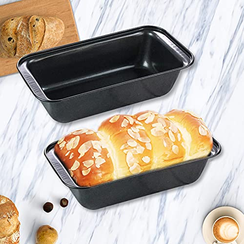 MANO Set of 2 Loaf pan for Baking Bread 8.5x4.5 Inch Long Toast Mold Nonstick Meatloaf pans Bakeware set