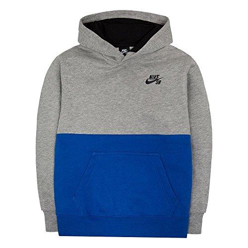 Nike Boys 8–20 SB Forro Polar Sudadera con Capucha, Gris