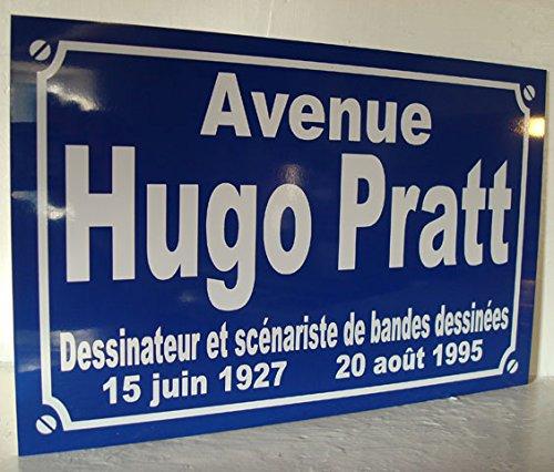 Hugo-pratt BD plaque de rue création collector edition limitée cadeau original