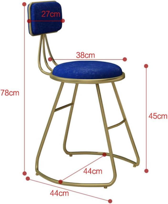 FGVVA ARTBar Chaises en Fer forgé pour Salle à Manger ou Salon Style Nordique, Alliage, Red, Size 0.00watts Blanc