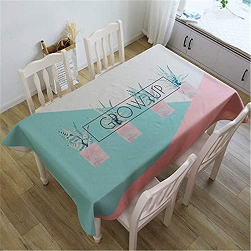 Wohnzimmeraccessoires Baumwolle und Leinen moderner minimalistischer Sommerkaktus kreative Tischdecke Staubschutztuch Wohnzimmer Esstisch