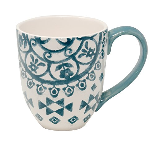 Jumbotasse Becher XXL folkloristische Deko 810 ml aus Keramik Trinkbecher Smoothie Becher Geschenk Büro Tasse für Kaffee Teetasse Cappuccino Kaffeebecher Jumbo-Tasse Riesentasse XXXL von DUO (Alma)