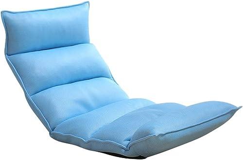 MDBLYJ Faule Couch, gepolstertes Bett zurück einzigen Erker Sessel Bay Fenstersessel, (Farbe   Hellblau)