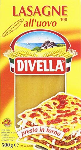 Divella - Lasagne all'Uovo, con Uova Fresche, Presto in Forno - 500 g
