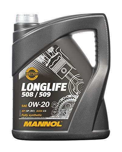 MANNOL 5 Liter, 0W-20 LONGLIFE 508/509 MOTORÖL