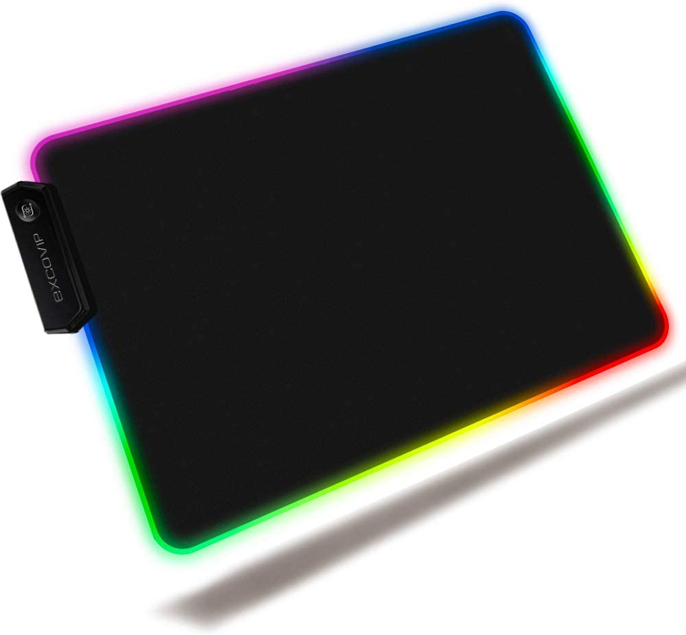 RGB Mouse pad Extended Gaming Pad All stores are sold EXCOVIP Computer New product!! L Black