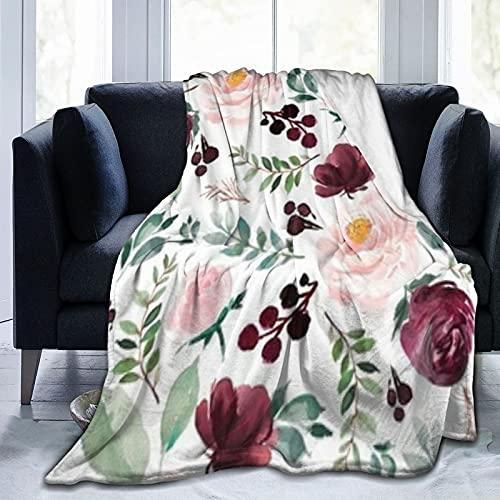 Wild At Heart - Manta de forro polar reversible cálida ultra suave para todas las estaciones para niños y adultos, mantas para sofá de cama y sofá de 156 x 100 cm
