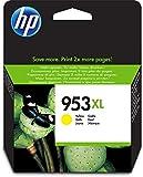 HP 953XL F6U18AE Cartuccia Originale per Stampanti a Getto di Inchiostro, Compatibile con OfficeJet Pro 8710, 8715, 8718, 8720, 8725, 8730, 8740, 7740 Grandi Formati, Giallo