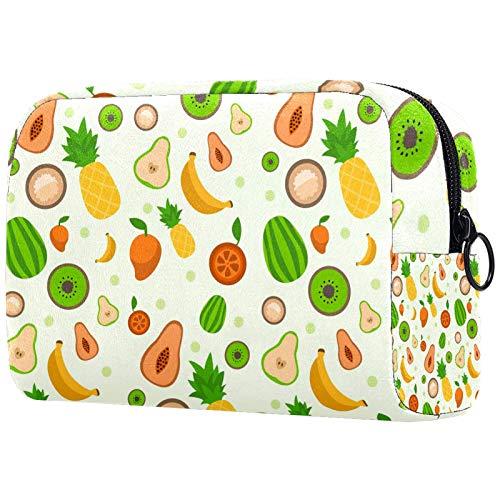 KAMEARI Bolsa de cosméticos con diseño de frutas tropicales, bolsa de cosméticos grande, organizador multifuncional de viaje