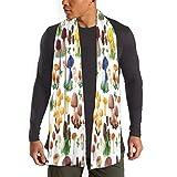 mahada - Bufanda para hombre, diseño de seta salvaje para hombre y mujer, de poliéster, suave impresión de doble cara en anchura completa