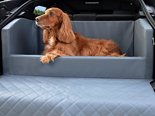 Travelmat PLUS Kofferraum Hundebett fürs Auto STANDARD Kunstleder Grau 100 x 80cm