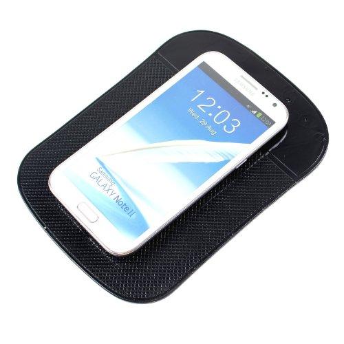 2-TECH Anti Rutsch Matte Halter XXL Tablethalter passend für ipad, Smartphone universal in schwarz
