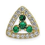 14 quilates amarillo laboratorio cultivado diamante Si1 Si2 G H I Lab Crtd esmeralda triángulo Pend joyería regalos para mujeres