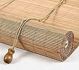 LLPEIJIE026 Tenda a Rullo in bambù retrò,Cortina di bambù,Tenda di bambù,Veneziana per Finestre,Parasole per Parasole per Balcone, per Esterno/Interno, Facile da Installare (90x220cm/36x87in)