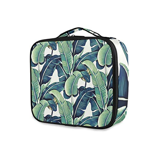 Tropical Banana Leaf Toiletry Pouch Portable Makeup Bag Travel Storage Fashion Tools Cosmetic Train Case