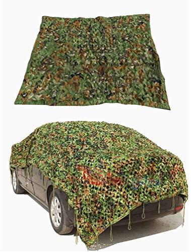2X3m Camuflaje militar cubierta del coche Red de camuflaje Tarp la red del acoplamiento ligero a prueba de agua for el tamaño de la sombrilla del partido del pabellón Decoración Caza Ciegos: 4mx4m = 1