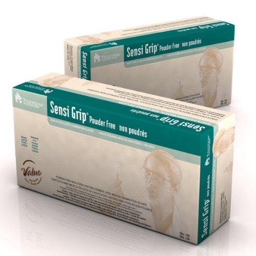 Dynarex 6711 Sensi Grip Latex Exam Gloves Powder Free - X-Small 10/100 Case