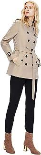 Autunno e Inverno Merletti Doppi di Donne su Piccolo Alto Cappotto Windbreaker Temperamento Versatile Donna Moda Breve