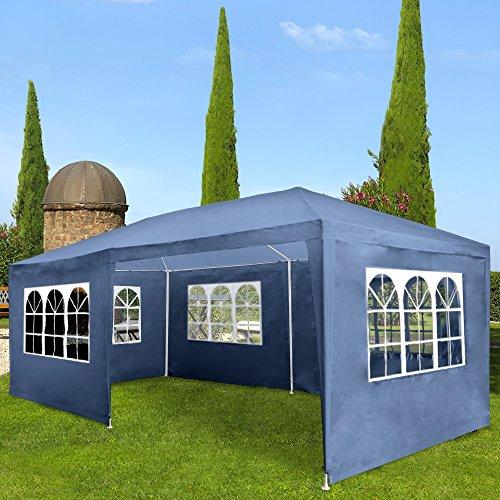 Miadomodo Gazebo tendone da giardino esterno 3 x 6 m colore a scelta (blu)