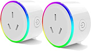 Australove WIFI Smart Plug with RGB Light, Wireless Power Outlet Compatible with Amazon Alexa, Google Home Assistant and I...