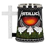 Nemesis Now Metallica-Master of Puppets Tankard, Resin, Black, 14.5cm
