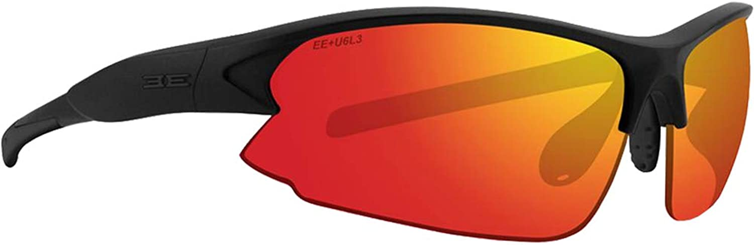 Epoch Primo Sport Fashion Motorcycle Riding Sunglasses Black with Clear Red Mirror Super Dark Photochromic Lens