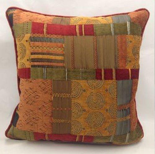 Evans Lichfield Marruecos color terracota calidad Patchwork estilo cojín–17o 22inch