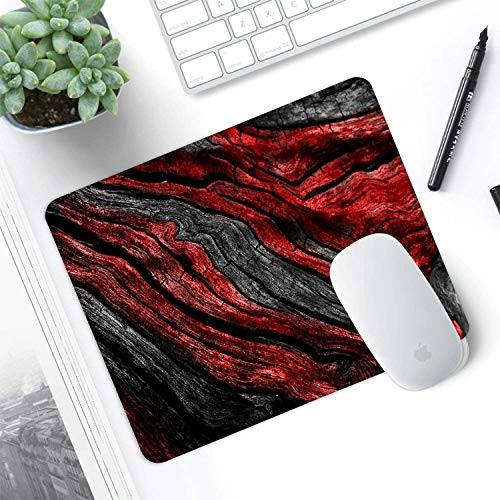 Mouse pad,Red Gray Marble Pattern Waterproof Anime Gaming Gift Mouse Pad Desk Accessories Non-Slip Rubber Mousepad for Laptop Wireless Mouse Photo #4