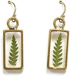 Olive Bella™ 14k Gold Filled Ear Wire Fern Leaf Earrings for Women, 1