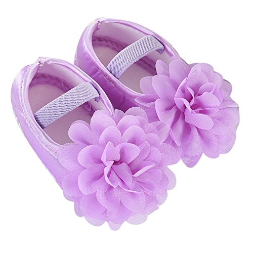Babyschuhe Heligen Kleinkind Kind Baby Chiffon Blumen Gummiband Neugeborene gehende Schuhe Elastische Gürtel Babyschuhe aus Chiffon rutschfeste weiche Baby Sneakers