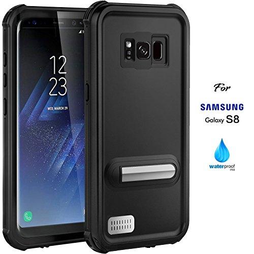 ASAKUKI Samsung Galaxy S8 Waterproof Case, IP68 Certified Case Full Body Protective, Shockproof, Scratch-Proof, Dustproof Case with Sensitive Screen Protector