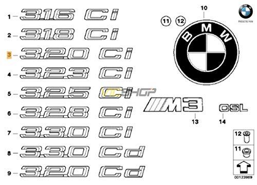 Stemma adesivo posteriore E46-320Ci -