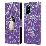 Head Case Designs Licenciado Oficialmente Animal Club International Penguin Pet Royalties Carcasa de Cuero Tipo Libro Compatible con OnePlus 8T 5G