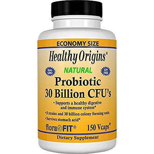 Healthy Origins Natural Probiotic 30 Billion Cfus Capsules, 150 Ea (Pack of 2)