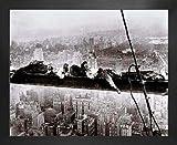 1art1 New York Poster Kunstdruck und MDF-Rahmen - Radio