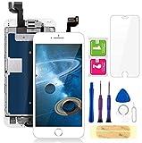 FLYLINKTECH écran pour iPhone 6s Blanc 4,7' LCD de Remplacement Complet - préassemblés LCD avec capteur de proximité, caméra Frontale, écouteur et Plaque arrière en métal Kit d'outils de réparation