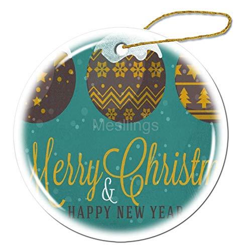 Mesllings Schilderij Kerstballen Vrolijk Kerstmis Nieuwjaar Ornament 3