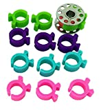 PeavyTailor 12pcs Bobbin Holder Clips for Embroidery Quilting and Sewing Thread