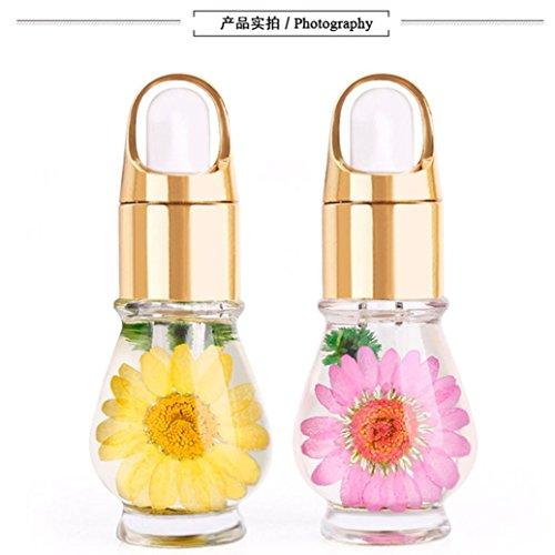 Toamen Nail art Huile nutritionnelle Fleurs séchées Manucure de traitement de soin Mélangez les fleurs séchées de goût 1 Pcs