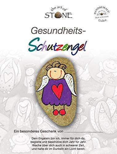 The Art of Stone Gesundheits Schutzengel - Naturstein Handbemalt Unikat- Glücksbringer, Mutmacher und Trostspender zugleich