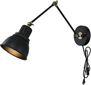 Plug In Wall Sconces Lamp Tausende Black Indoor Sconce Light Mounted Fixture